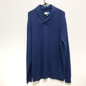 14th & Union, Solid Blue Pullover Top